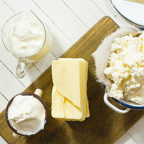 Beurre, fromage frais et crême